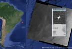 Imagen satelital de radar sobre la costa de Brasil