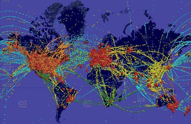 Atribución de espectro para seguimiento de vuelos