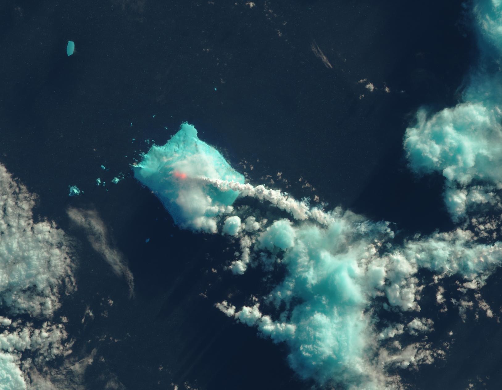 Isla Blanco, 1 de mayo de 2016, Landsat 8 OLI, Imagen en Falso Color