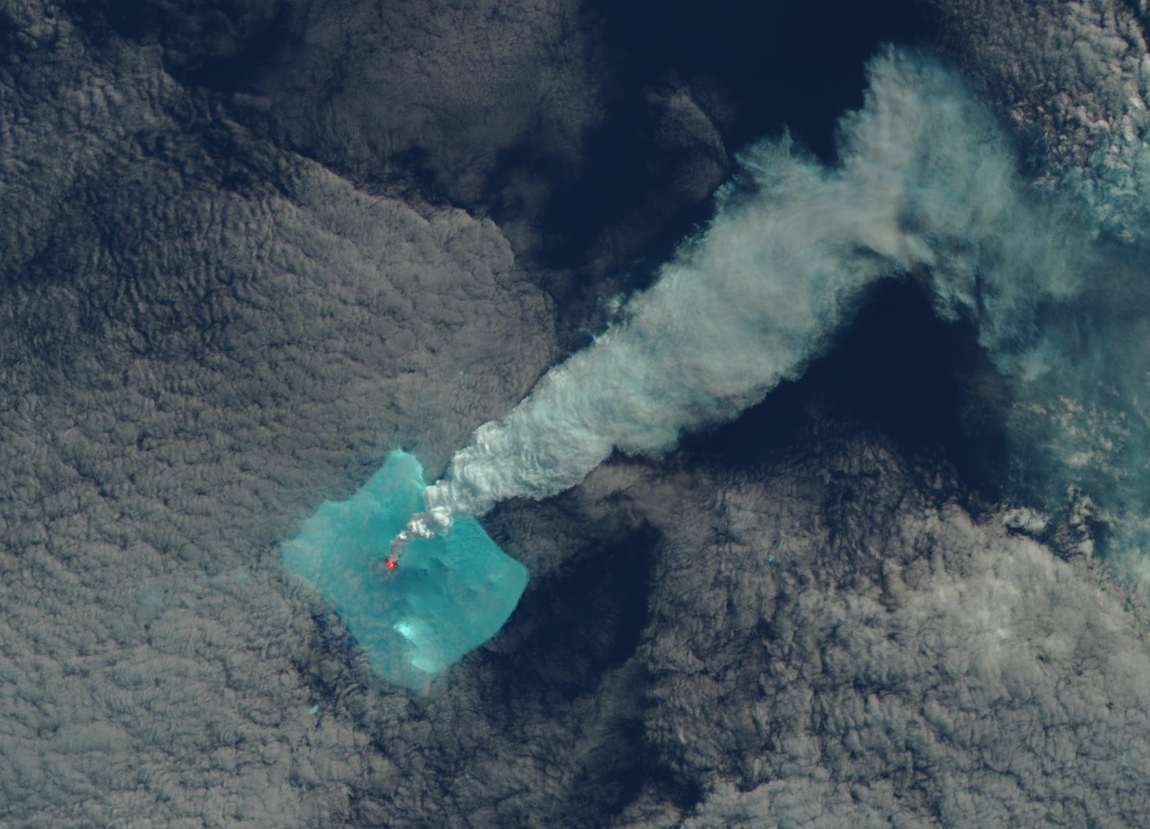 Isla Blanco, 24 de abril de 2016, Landsat 8 OLI, Imagen en Falso Color