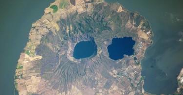 Vista de Laguna Managua en Nicaragua por la ISS