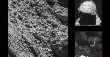 Imagen de Philae captada por la Cámara Osiris de Rosetta