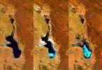 Evaporación del Lago Poopó en Bolivia, visto por Proba-V de la ESA