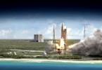 Imagen del Lanzador SLS, que llevará a bordo nanosatélites al espacio profundo