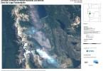 Mapa del incendio en Parque Nacional Los Alerces elaborado por la CONAE - Imagen: SPOT 6