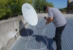 Instalación de TDA Satelital en Chaco