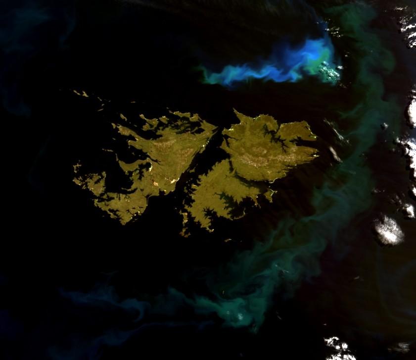 Las Malvinas Desde El Espacio Latam Satelital