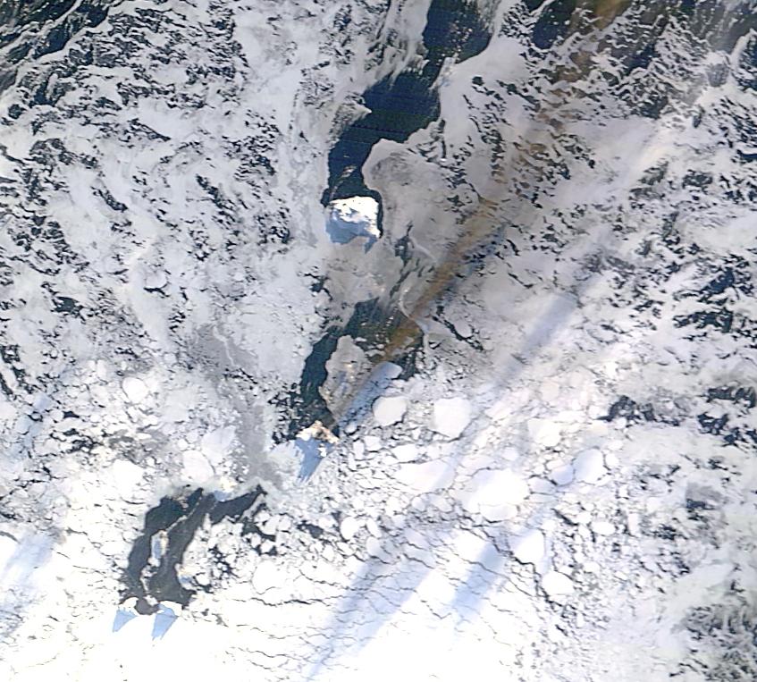 Isla Blanco, Terra MODIS, 28 de mayo de 2016, imagen en color real