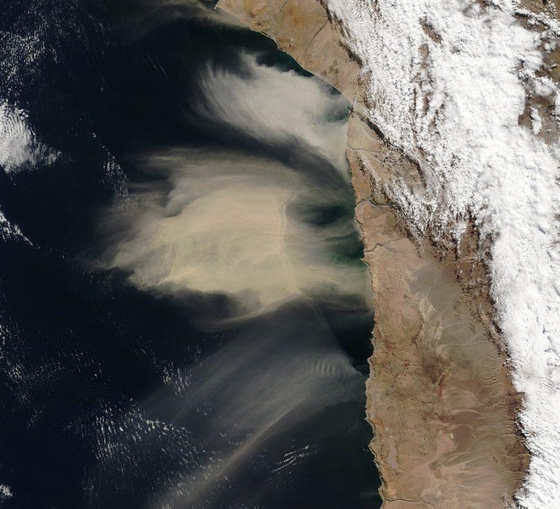 Tormenta de Arena en Chile