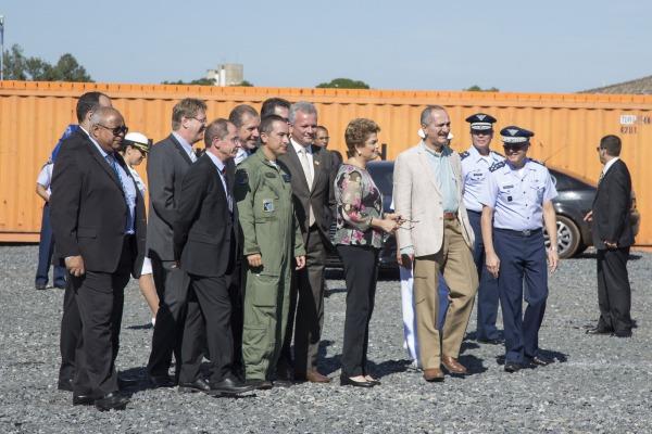 Dilma en Centro de Operación Satelital