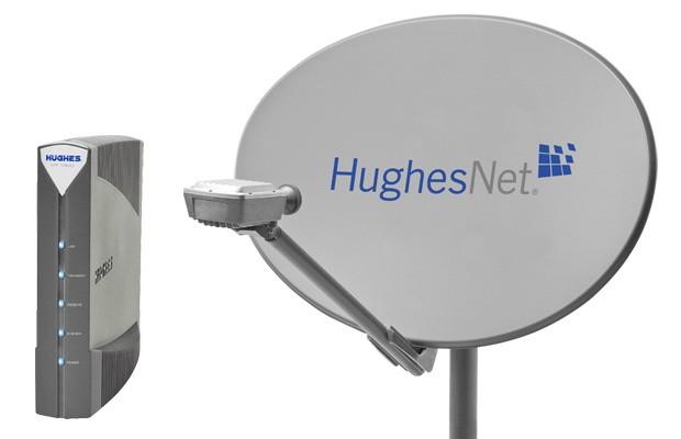 antena satelital de HughesNet