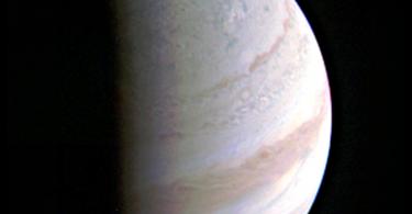 Jupiter desde la Juno Cam el 27 de agosto de 2016