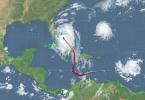 Trayecto e intensidad del Huracán Matthew