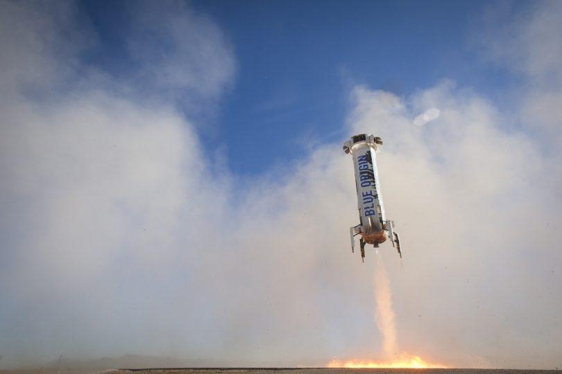 Aterrizaje del lanzador reutilizable de Blue Origin