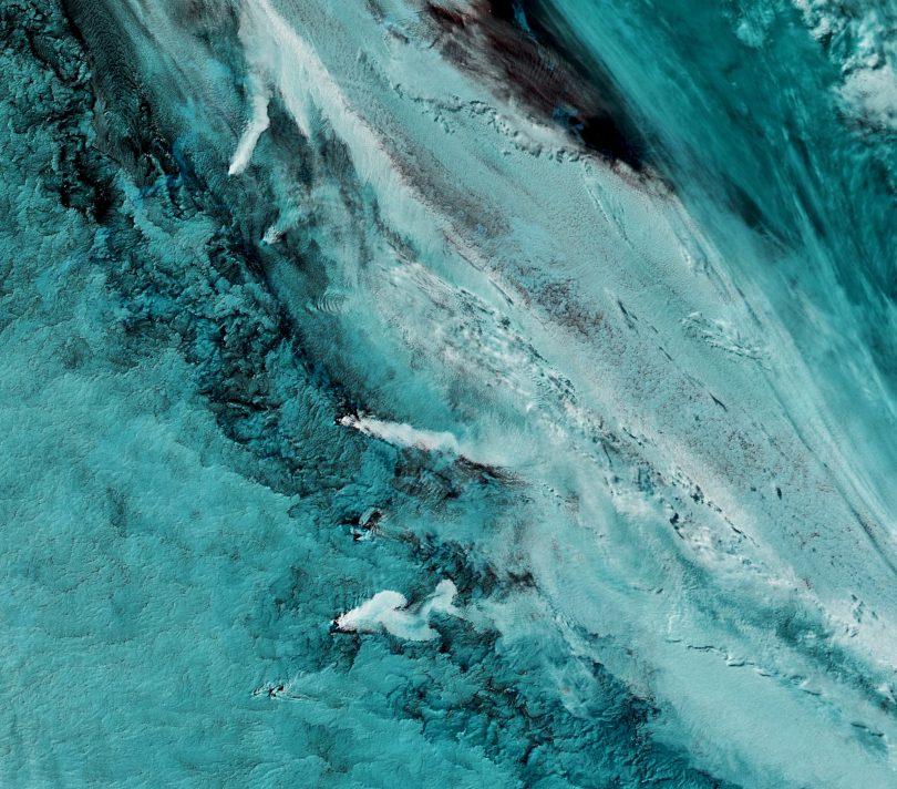 Islas Sandwich del Sur, Aqua MODIS, 29 de Septiembre de 2016