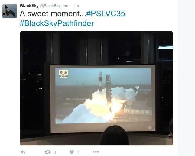 Tweet de Blacksky Global